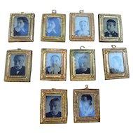 Suite 10 miniature frames for dollhouse