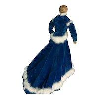 Fashion doll dress size 4 circa 1865.