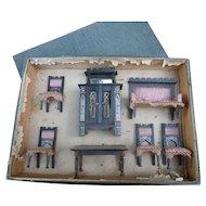 Dollhouse furniture in their original box
