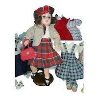 BLEUETTE doll and an important outfit set by Gautier Languereau circa 1950.