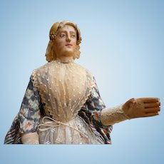Articulated wooden doll by Achille DUMONTOIS