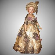 Extremely Rare French SFBJ  EXHIBITION MODEL Dressed by the 'A.Marque' Couturier -