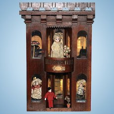 A  French Style 'Salon de Modes'  Doll House with Original Interior…