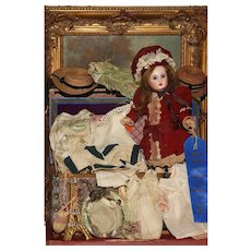 """'YVETTE'  - An 11"""" Closed Mouth 'Figure A' Steiner with Trunk and HEIRLOOM TROUSSEAU -"""