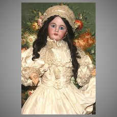 """RICH and DRAMATIC  36"""" Kammer and Reinhardt  K Star R with Fantastic Heirloom Clothes, Shoes, Wig and Provenance…plus Box Bottom w. Label"""