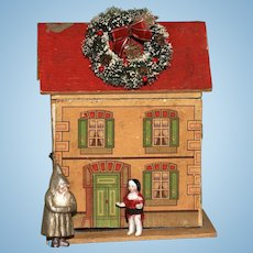 MATRIX STOCKING STUFFER !! Precious Antique Cabinet Size Doll House with Mantle