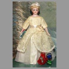 "Matrix STOCKING STUFFER !!    A  Mint 10"" Little Lady Simon Halbig 1160  Estate Doll"