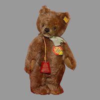 "MATRIX STOCKING STUFFER !!   The 10"" Mint 1950's Steiff Teddy Bear made Exclusively for FAO Schwarz"