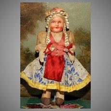 MATRIX STOCKING STUFFER!!  A Colorful All Original Hungarian Doll  signed Hungary