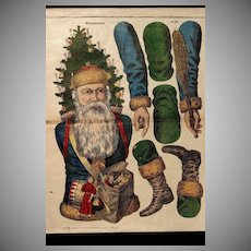 THE CHRISTMAS MAN !!  A Rare Signed Turn of the Century German SANTA CLAUS 'Pantin'
