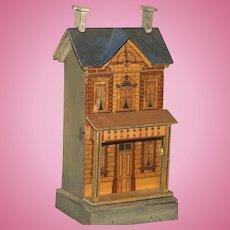 A Shelf Size Gottschalk Blue Roof Doll House