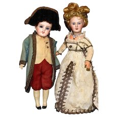 True French Bisque Romance…NAPOLEON…the Limoges Art Doll and his VALENTINE JOSEPHINE