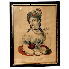 THE QUEEN OF HEARTS…An early Currier and Ives Lithograph