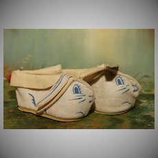 HOLD FOR B.L:   1950's White Bunny Slippers for Girls, Boys and Baby Dolls of All Eras !