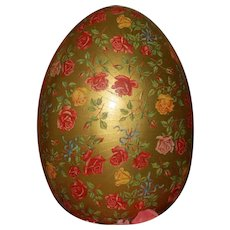 LARGE and GLORIOUS Easter Egg Holiday Candy Container