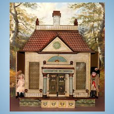 An Elegant and Unusual FRENCH MANSARD Doll House by BLISS.