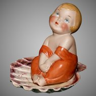 "VERY RARE 5"" German All Bisque ' TISS ME '  Bathing Beauty"