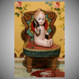 A Tiny German KEWPIE Style NYMPHET with Looking Glass !