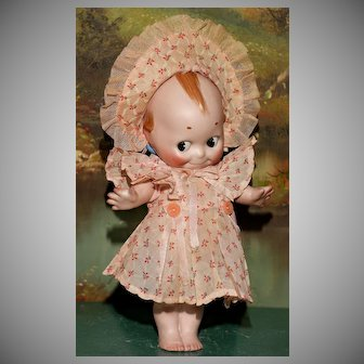 """A  Rare LARGE 10.5"""" Kewpie Mint and Signed in her PERIOD CLOTHES !"""