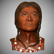 """Early  LARGE 'SKOOKUM' HEAD - comes with Original Body - Clothes need TLC - RARE 40"""" Tall !"""