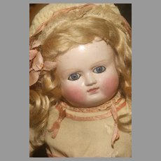 """A 17"""" tall Early 'FIRST MODEL' SCHMITT BEBE on the 1877 Patent in REMARKABLE CONDITION with Original Signed Body!  Museum Class!"""