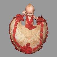 "KEWPIE COLLECTORS !  A Boutique 6"" Kewpie Valentine Presentation Piece"