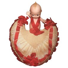 "KEWPIE COLLECTORS !  A Boutique 6"" Kewpie Valentine Presentation Piece"