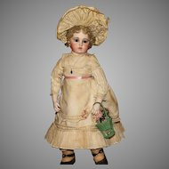 "The Early CIRCLE DOT BRU - Magnificent 21"" Bru Bebe stunning in her Important HEIRLOOM NURSERY ENSEMBLE."