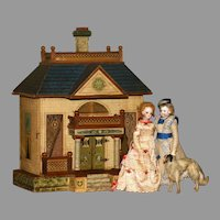 "A Stately and Rare FRENCH MANSARD  Dollhouse by BLISS with 10"" Ceilings.!"