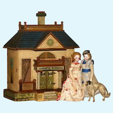 """A Stately and Rare FRENCH MANSARD  Dollhouse by BLISS with 10"""" Ceilings.!"""