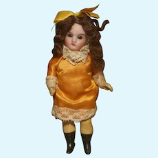 "MATRIX STOCKING STUFFER !!   5"" French Trade 'Jeune Fille' Pocket Doll in Factory Dress"