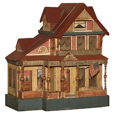 Festive Signed Bliss Seaside Manor Doll House with Original Lithography