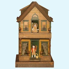 RARE Doll House - The Gutter House - ca: 1902