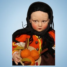 """Seasonal Lenci with Pumpkins - 14"""" All Original 'Lucia' in Box with Tags"""