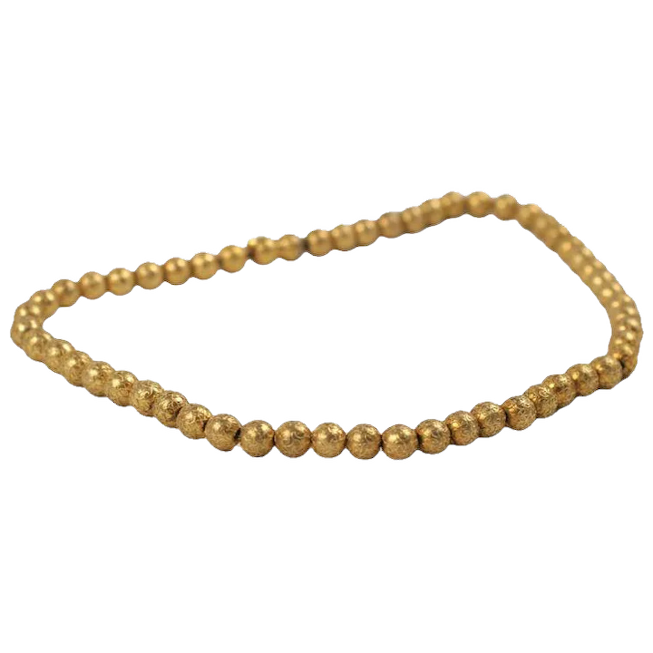 Gold Bead Necklace C 1920