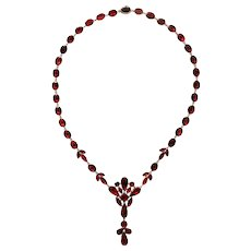 Georgian Vivid Garnet Necklace c. 1820