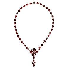 Georgian Vivid Garnet Necklace c. 1820