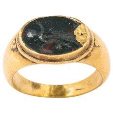 Ancient Roman Intaglio of Helios Ring