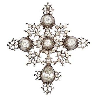 Antique Georgian French Provincial Paste Cross