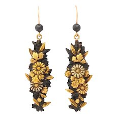 Antique Victorian Japanese Shakudo Earrings