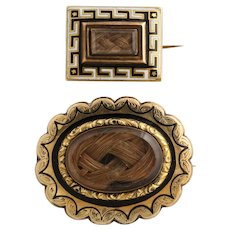 VICTORIAN Gold Memorial Pins