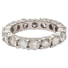 20th Century Diamond Eternity Band Wedding Ring
