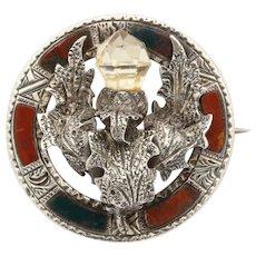 Antique Victorian Small Scottish Thistle Brooch