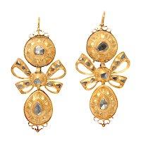 Eighteenth Century 18 kt Gold and Diamond Earrings