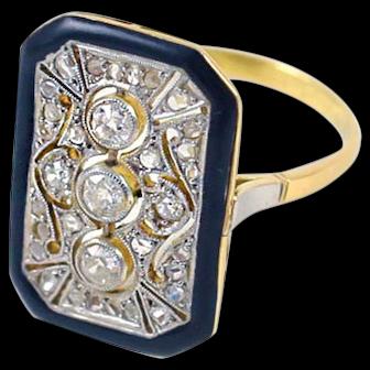 Art Deco Diamond Lace Ring