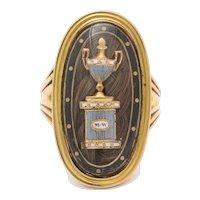 Georgian Original 15 kt Memorial Ring c.1792