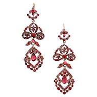 Edwardian Cherry Paste Earrings