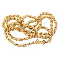 Twisted and Braided Long Georgian Chain c. 1820-1830