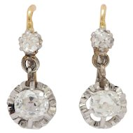 "18kt French Victorian Diamond ""Sleeping"" Earrings"