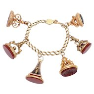 Six Imaginative Victorian Fobs and Bracelet